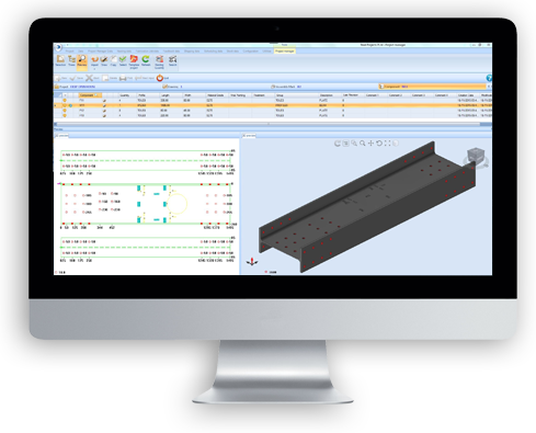 Visuel du logiciel Steel Projects PLM