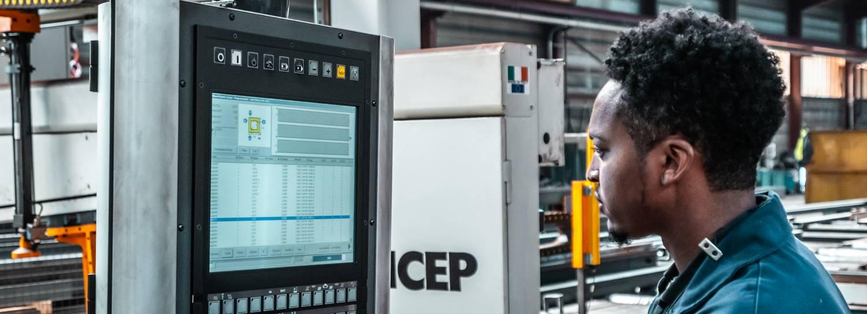 steel fabrication cnc machine program creation